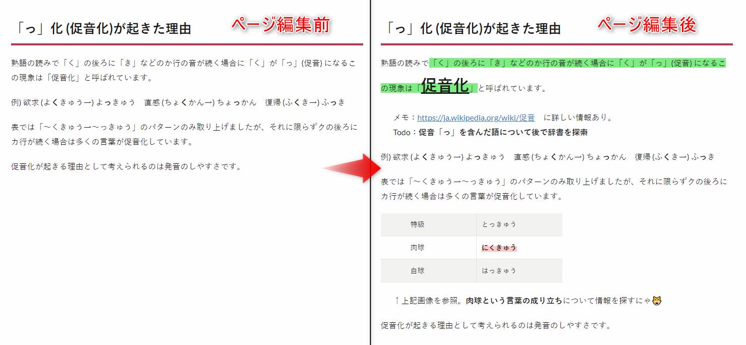 Page Edit でのページ編集例。マーカーや画像挿入、文字サイズ変更や文章追加を行った