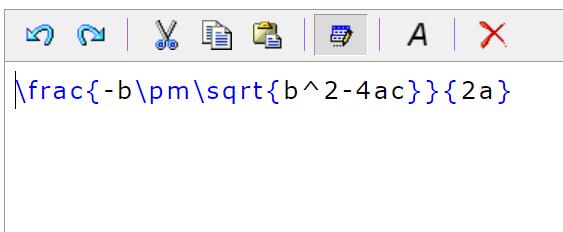 Web数式エディタHostMathの数式エディタ