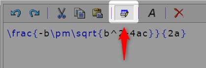 Web数式エディタHostMathのデフォルト値入力ON/OFFボタン