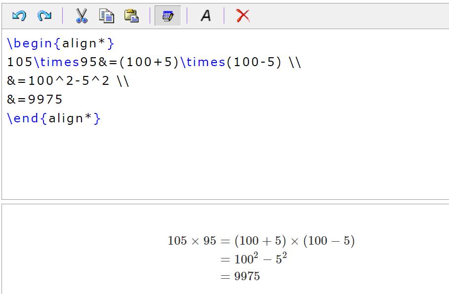 HostMathではamsmathの数式環境を利用可能